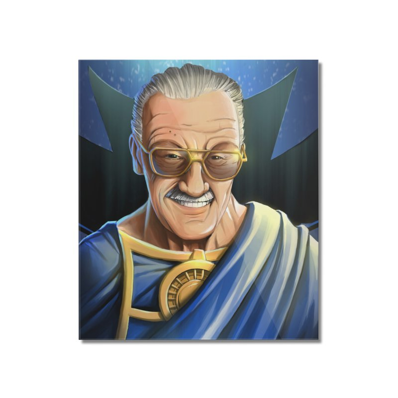 Guardian Stan Lee Home Mounted Acrylic Print by EvoComicsInc's Artist Shop