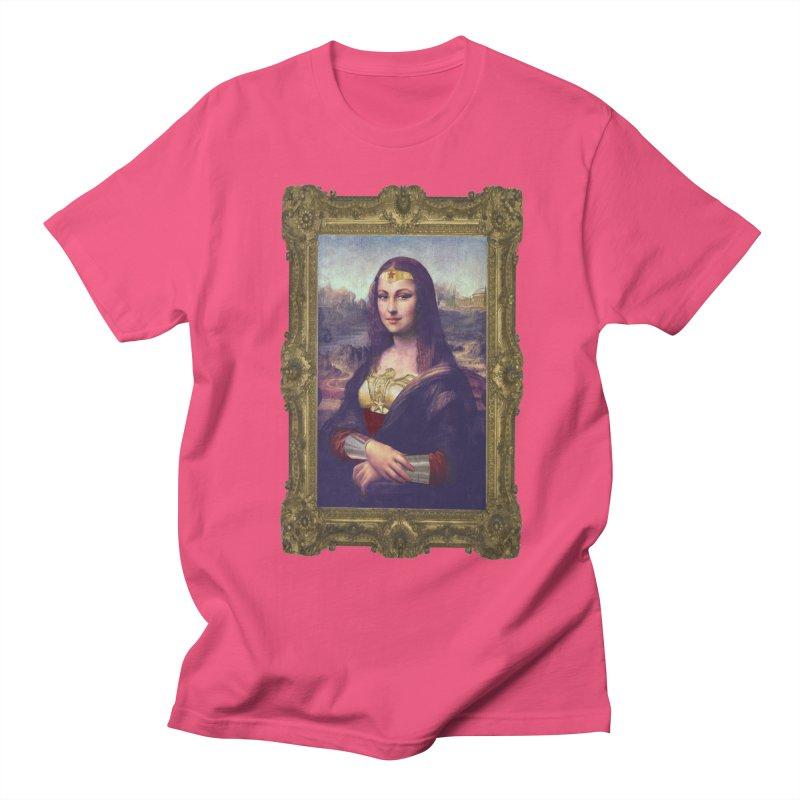 The Wonder Woman of Mona Lisa Women's Unisex T-Shirt by EvoComicsInc's Artist Shop