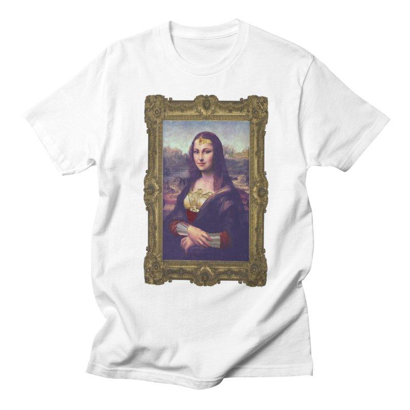 The Wonder Woman of Mona Lisa Men's T-Shirt by EvoComicsInc's Artist Shop