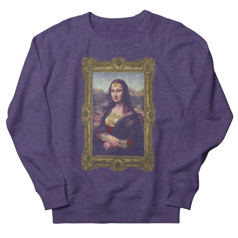 The Wonder Woman of Mona Lisa Men's Sweatshirt by EvoComicsInc's Artist Shop