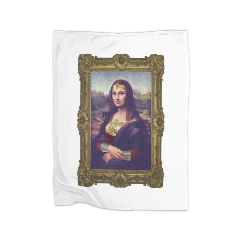 The Wonder Woman of Mona Lisa Home Blanket by EvoComicsInc's Artist Shop