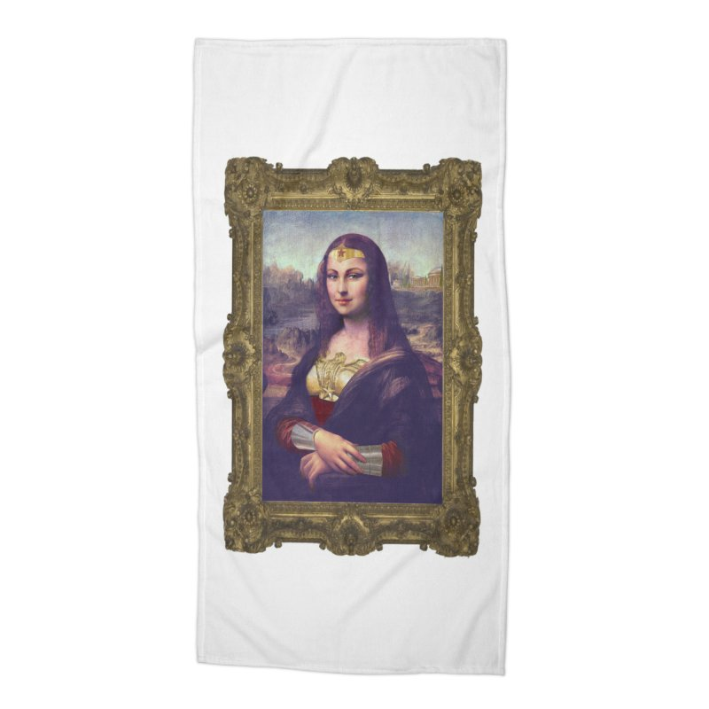 The Wonder Woman of Mona Lisa Accessories Beach Towel by EvoComicsInc's Artist Shop