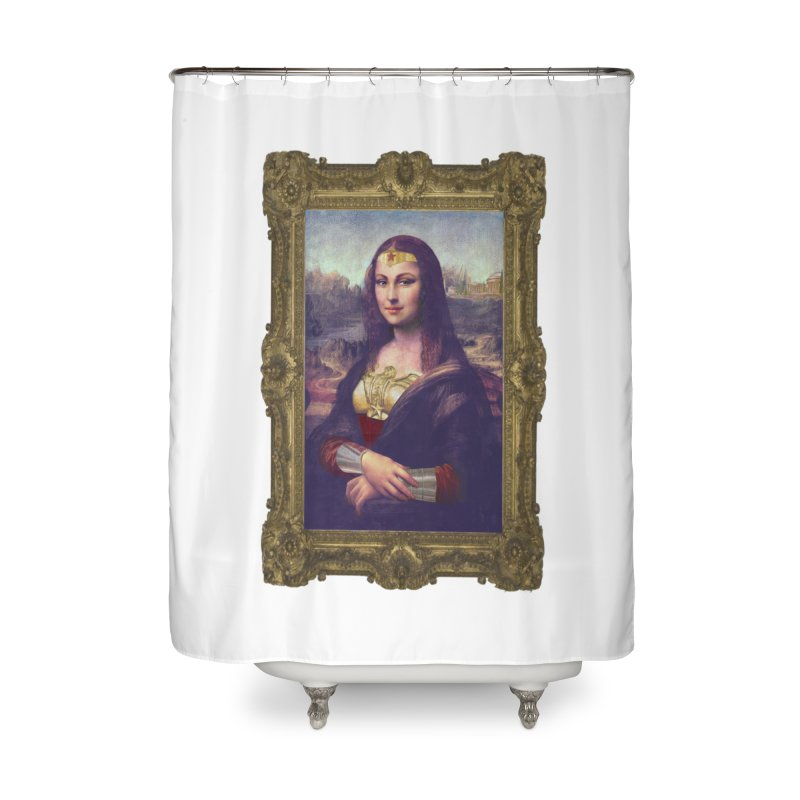 The Wonder Woman of Mona Lisa Home Shower Curtain by EvoComicsInc's Artist Shop