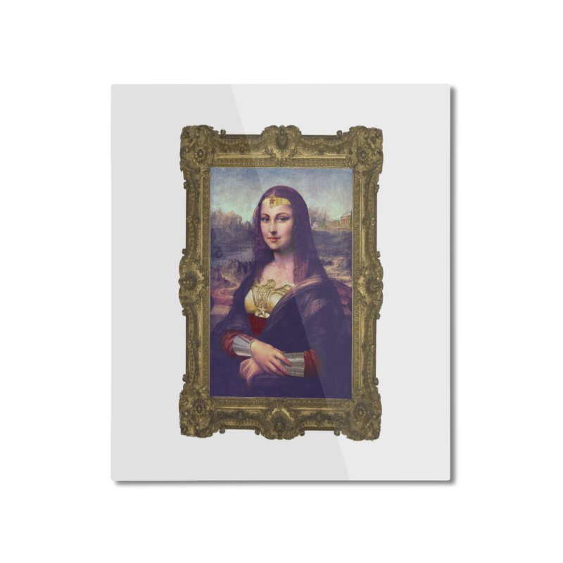 The Wonder Woman of Mona Lisa Home Mounted Aluminum Print by EvoComicsInc's Artist Shop