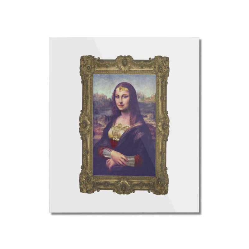 The Wonder Woman of Mona Lisa Home Mounted Acrylic Print by EvoComicsInc's Artist Shop