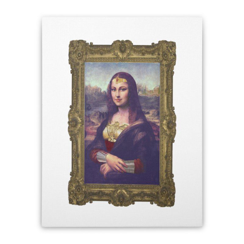 The Wonder Woman of Mona Lisa Home Stretched Canvas by EvoComicsInc's Artist Shop