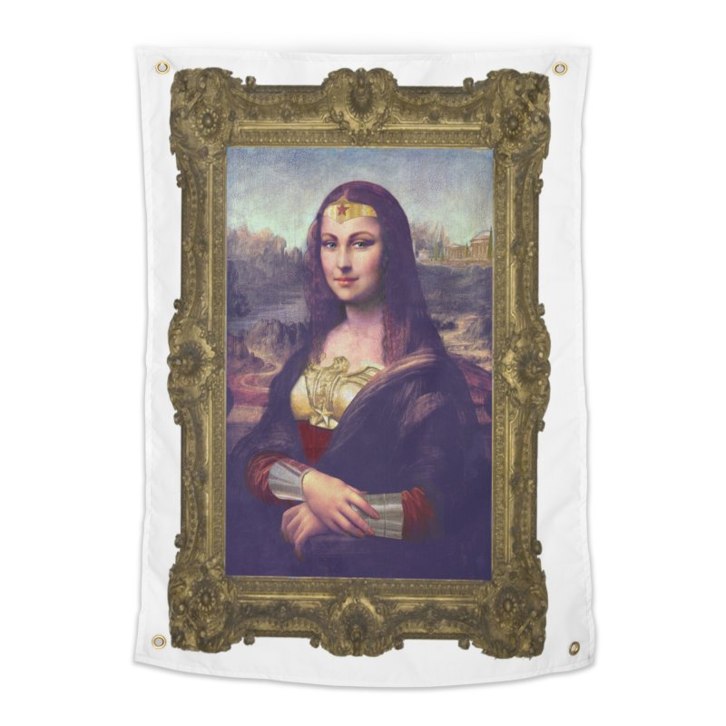 The Wonder Woman of Mona Lisa Home Tapestry by EvoComicsInc's Artist Shop