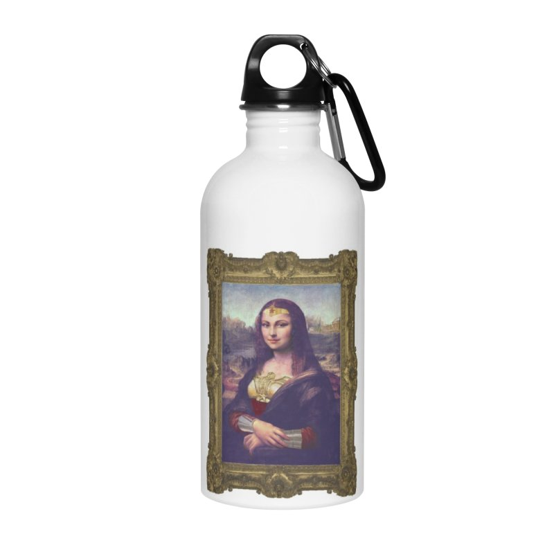 The Wonder Woman of Mona Lisa Accessories Water Bottle by EvoComicsInc's Artist Shop