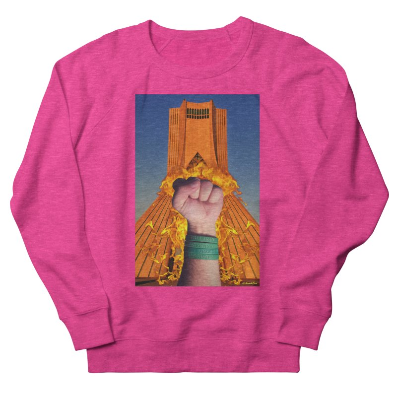 Free Iran Burning Fist Women's Sweatshirt by EvoComicsInc's Artist Shop