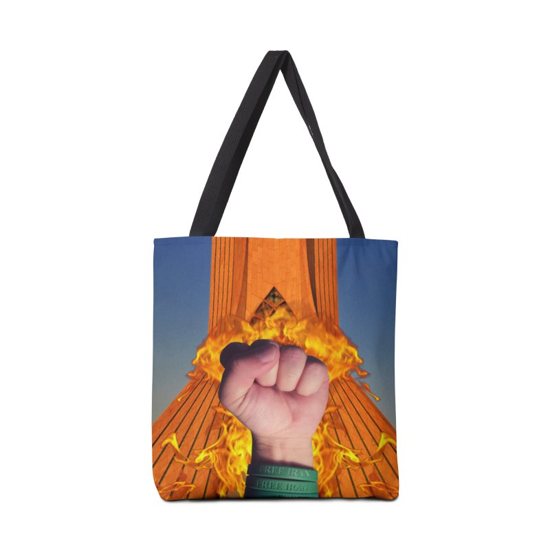 Free Iran Burning Fist Accessories Bag by EvoComicsInc's Artist Shop