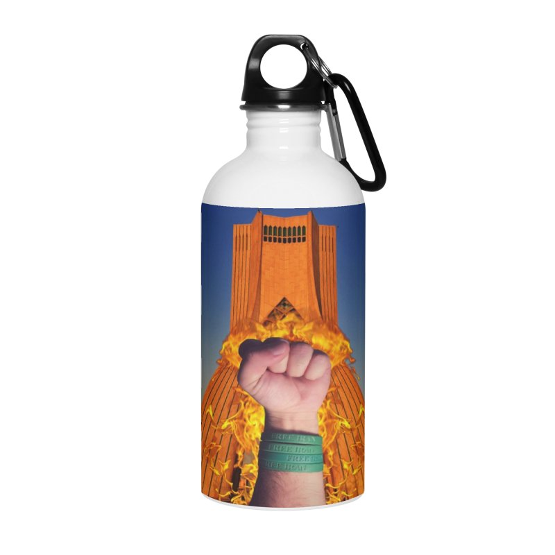 Free Iran Burning Fist Accessories Water Bottle by EvoComicsInc's Artist Shop
