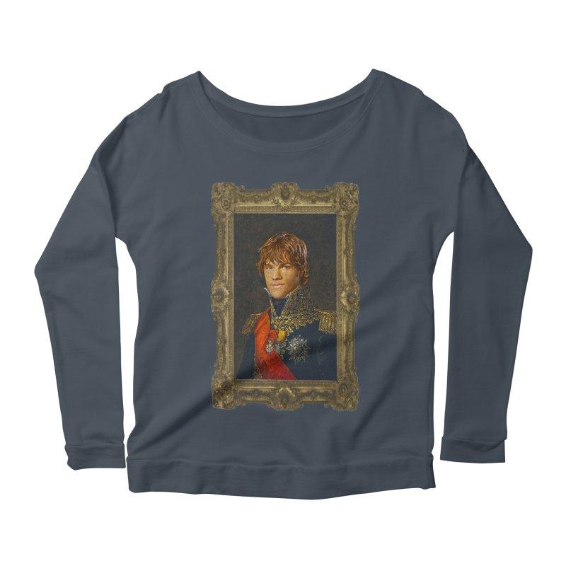 Supernatural Sam Winchester Women's Scoop Neck Longsleeve T-Shirt by EvoComicsInc's Artist Shop