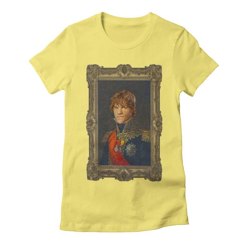 Supernatural Sam Winchester Women's Fitted T-Shirt by EvoComicsInc's Artist Shop