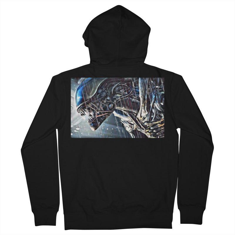 Alien Men's Zip-Up Hoody by EvoComicsInc's Artist Shop