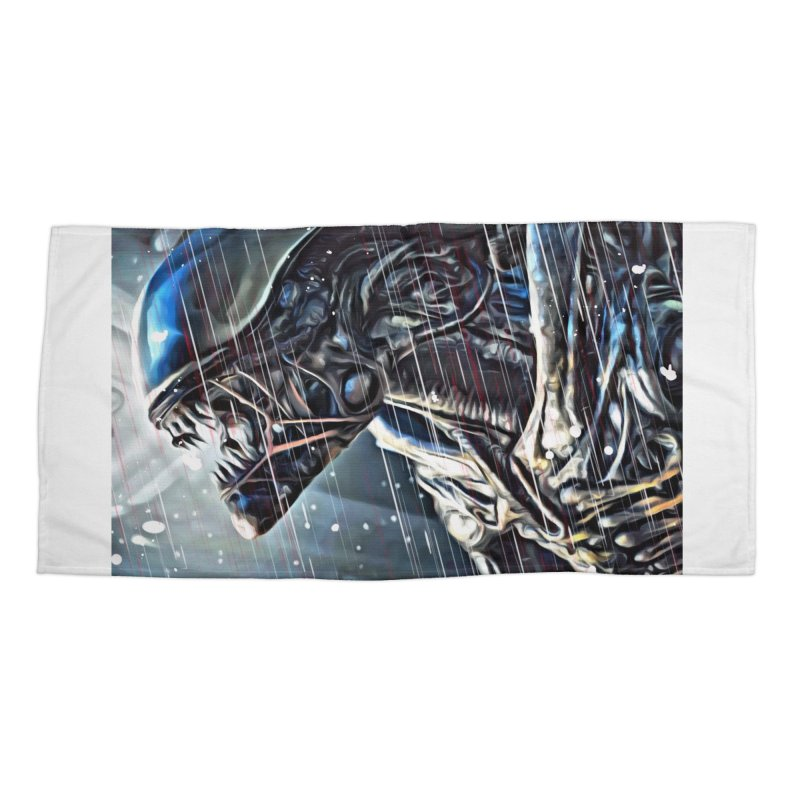 Alien Accessories Beach Towel by EvoComicsInc's Artist Shop