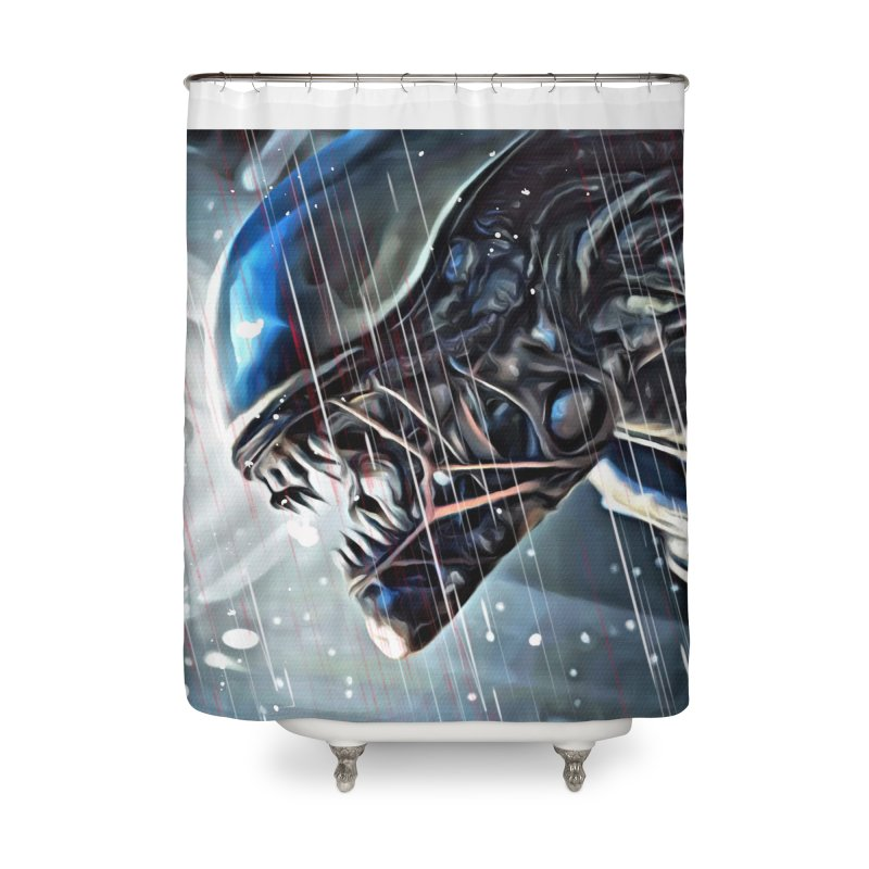 Alien Home Shower Curtain by EvoComicsInc's Artist Shop