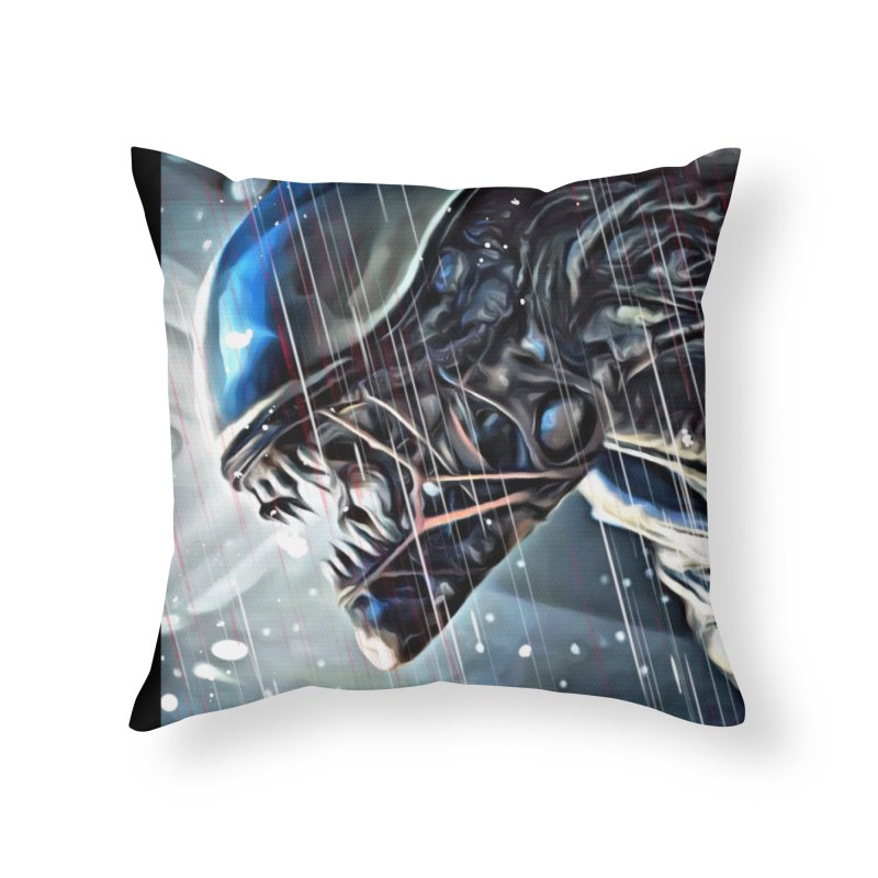 Alien Home Throw Pillow by EvoComicsInc's Artist Shop