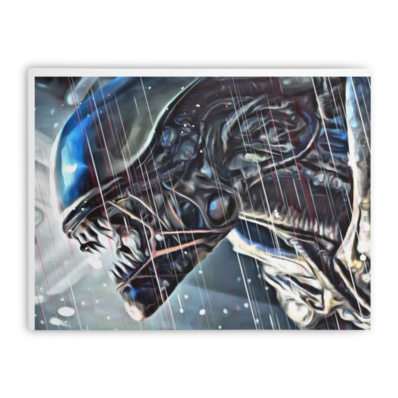 Alien Home Stretched Canvas by EvoComicsInc's Artist Shop
