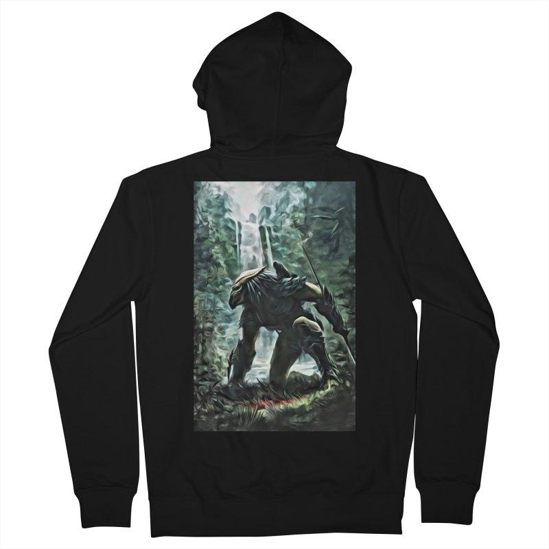 Predator Men's French Terry Zip-Up Hoody by EvoComicsInc's Artist Shop