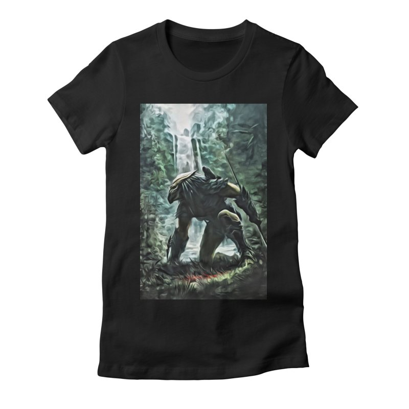 Predator Women's Fitted T-Shirt by EvoComicsInc's Artist Shop