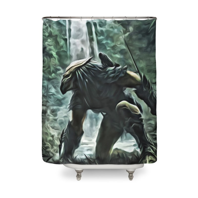 Predator Home Shower Curtain by EvoComicsInc's Artist Shop