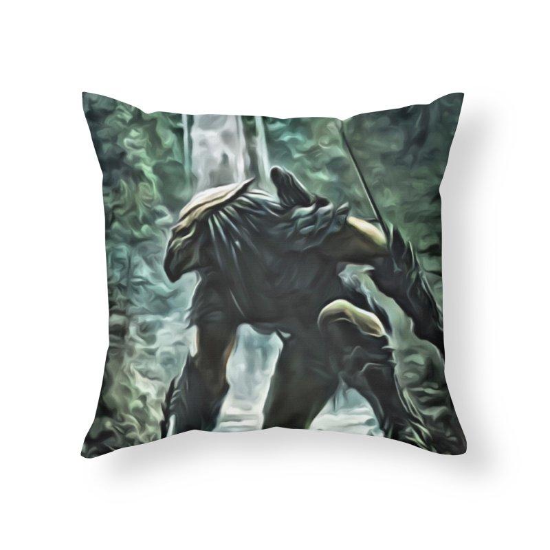 Predator Home Throw Pillow by EvoComicsInc's Artist Shop