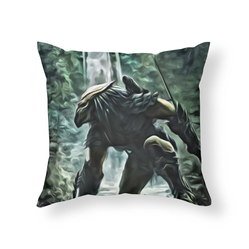 Predator Home Throw Pillow by EvoComicsInc's Artist Shop