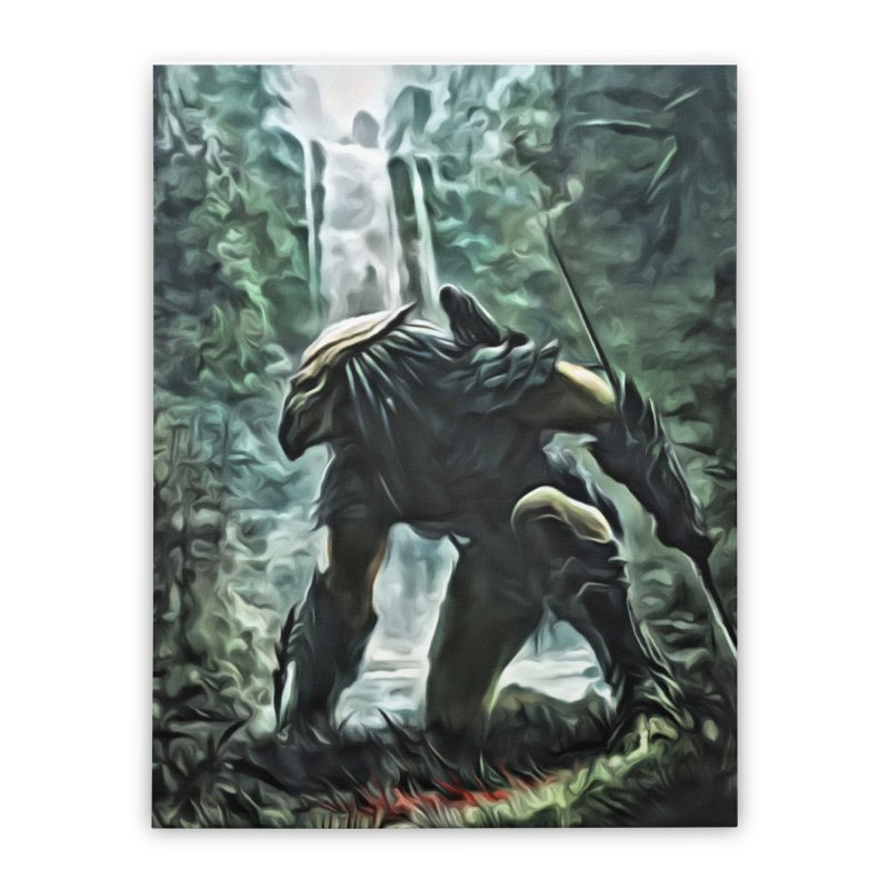 Predator Home Stretched Canvas by EvoComicsInc's Artist Shop