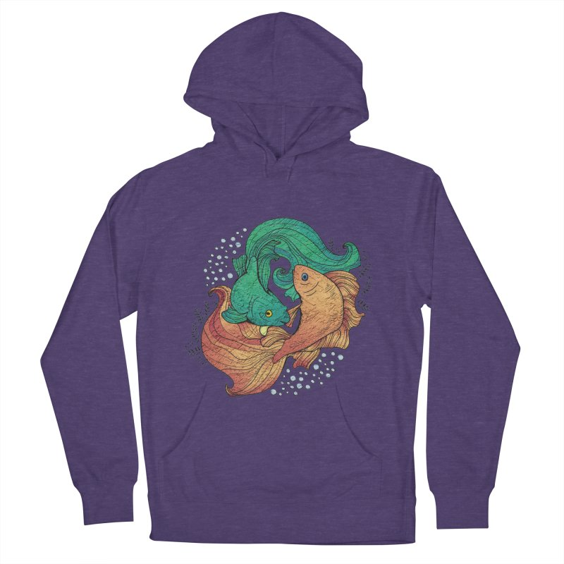 Ying Yang Koi Men's French Terry Pullover Hoody by EvoComicsInc's Artist Shop