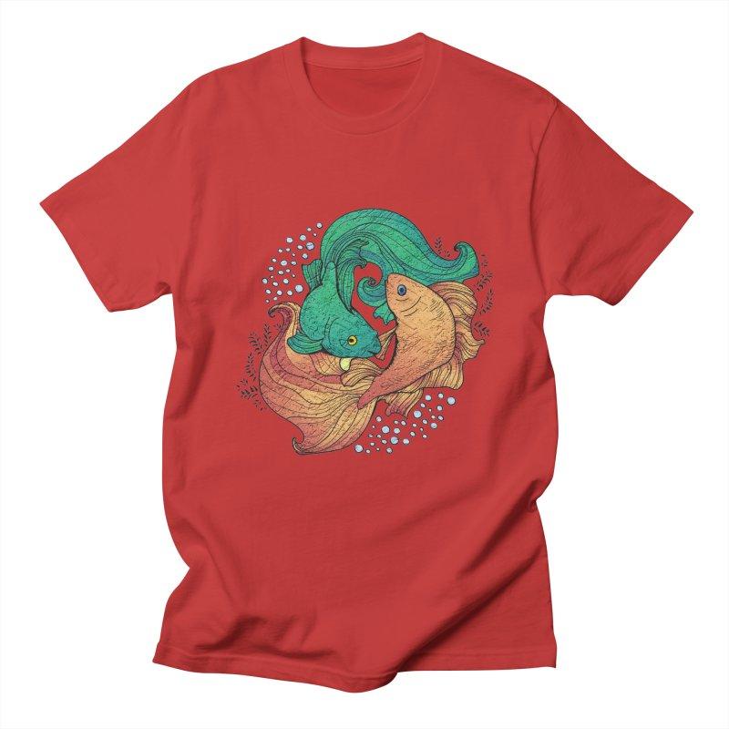 Ying Yang Koi Men's T-Shirt by EvoComicsInc's Artist Shop