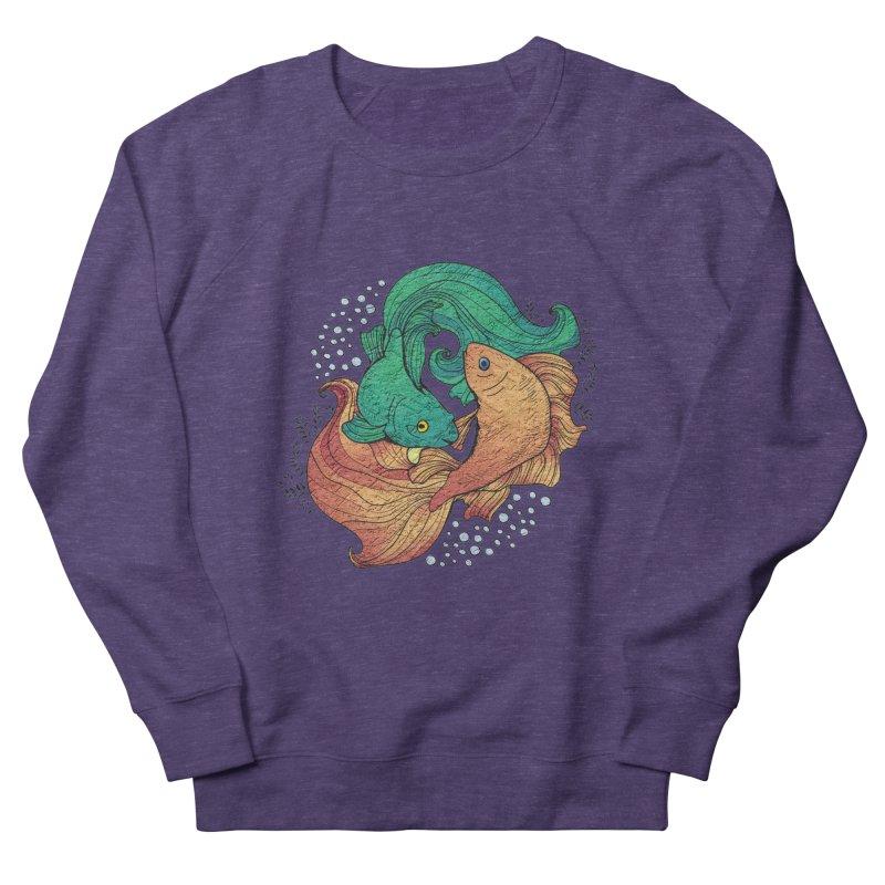 Ying Yang Koi Women's French Terry Sweatshirt by EvoComicsInc's Artist Shop
