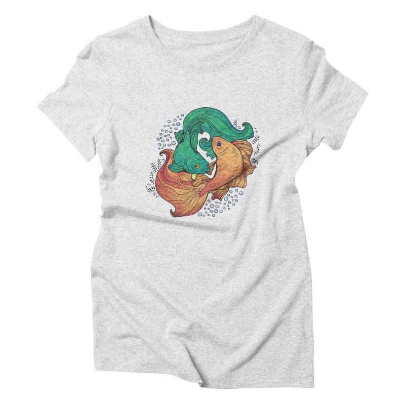 Ying Yang Koi Women's Triblend T-Shirt by EvoComicsInc's Artist Shop