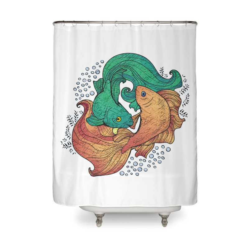Ying Yang Koi Home Shower Curtain by EvoComicsInc's Artist Shop