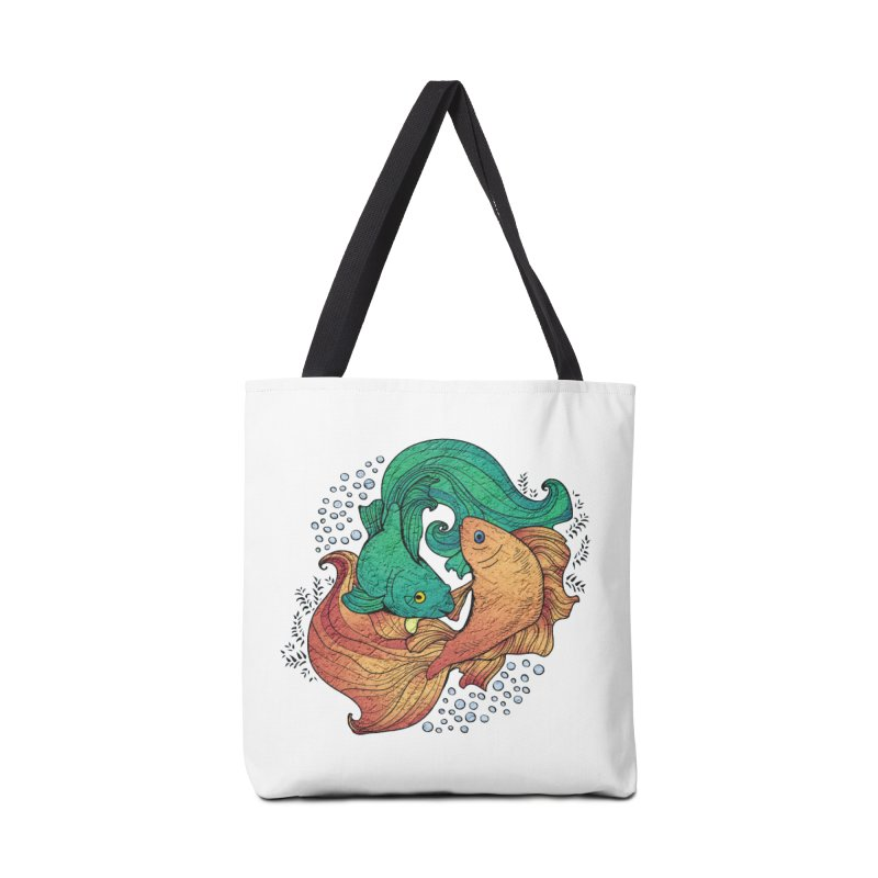Ying Yang Koi Accessories Bag by EvoComicsInc's Artist Shop