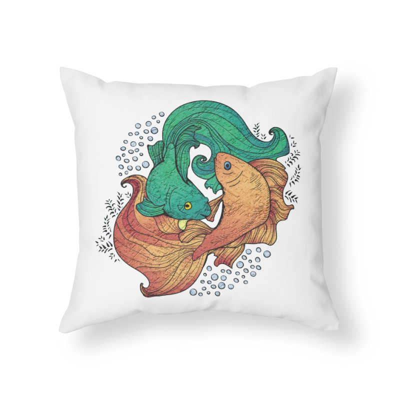 Ying Yang Koi Home Throw Pillow by EvoComicsInc's Artist Shop