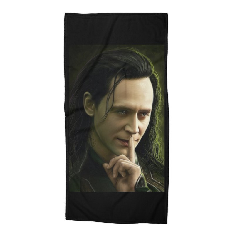 Marvel Loki Shhhhh Accessories Beach Towel by EvoComicsInc's Artist Shop