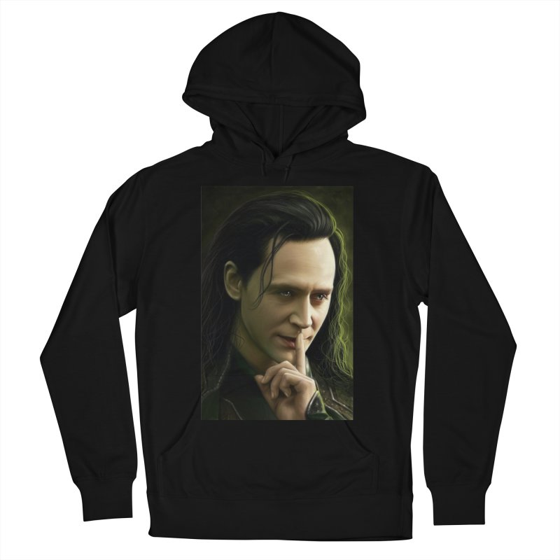 Marvel Loki Shhhhh Men's French Terry Pullover Hoody by EvoComicsInc's Artist Shop