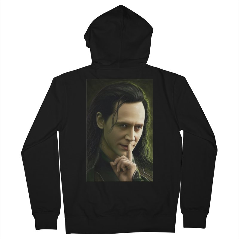 Marvel Loki Shhhhh Women's French Terry Zip-Up Hoody by EvoComicsInc's Artist Shop