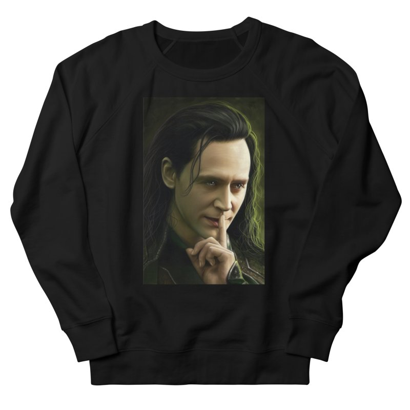 Marvel Loki Shhhhh Women's French Terry Sweatshirt by EvoComicsInc's Artist Shop