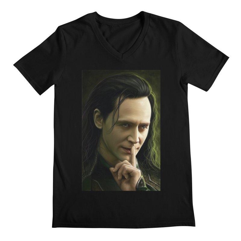 Marvel Loki Shhhhh Men's V-Neck by EvoComicsInc's Artist Shop