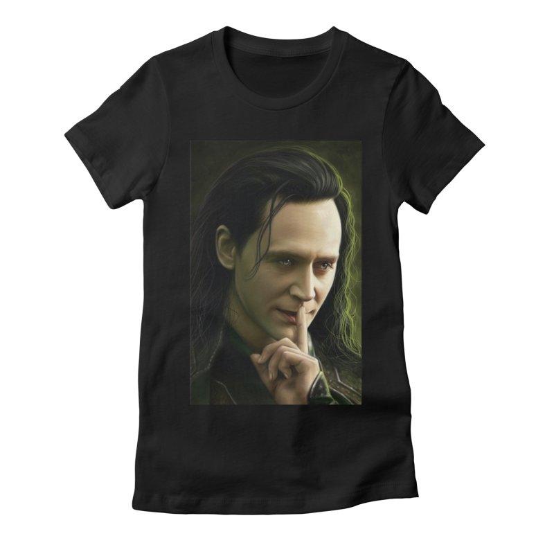 Marvel Loki Shhhhh Women's Fitted T-Shirt by EvoComicsInc's Artist Shop