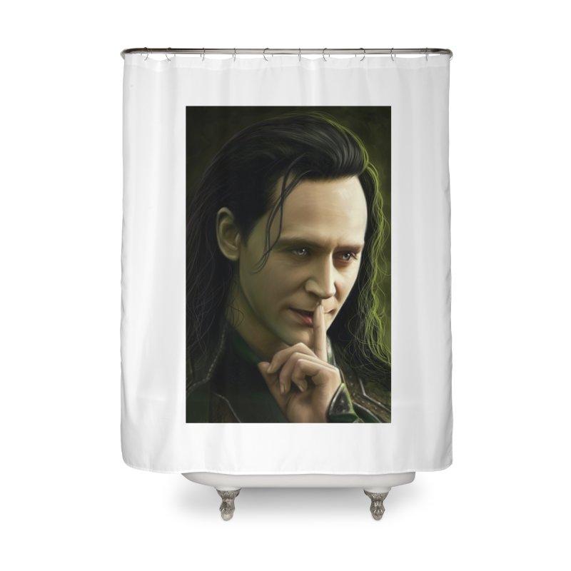 Marvel Loki Shhhhh Home Shower Curtain by EvoComicsInc's Artist Shop