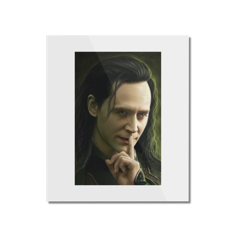 Marvel Loki Shhhhh Home Mounted Acrylic Print by EvoComicsInc's Artist Shop