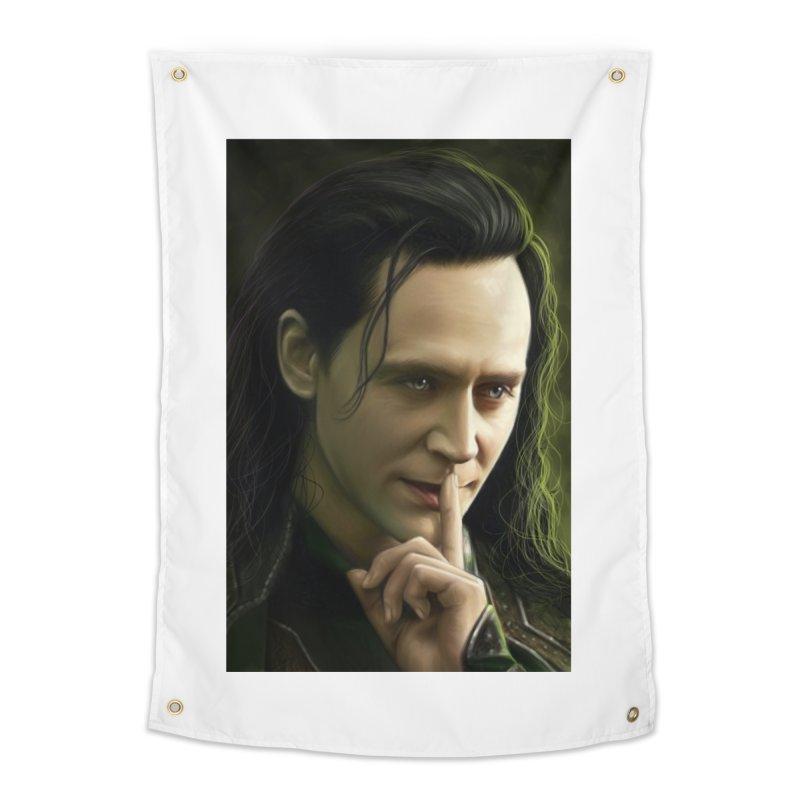 Marvel Loki Shhhhh Home Tapestry by EvoComicsInc's Artist Shop