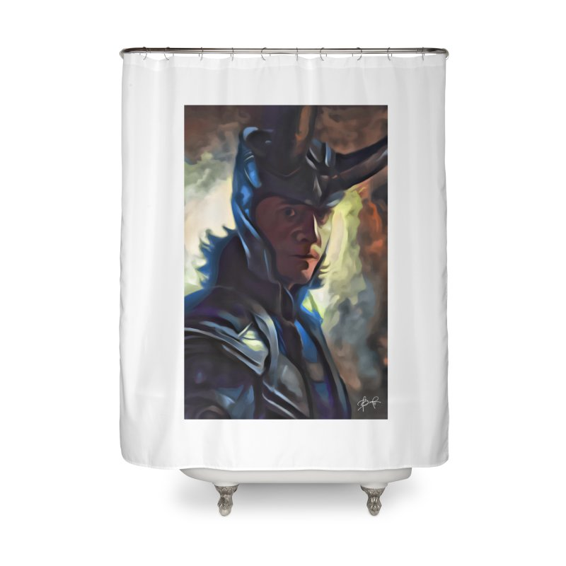 Marvel Loki Home Shower Curtain by EvoComicsInc's Artist Shop
