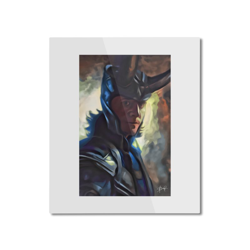 Marvel Loki Home Mounted Aluminum Print by EvoComicsInc's Artist Shop