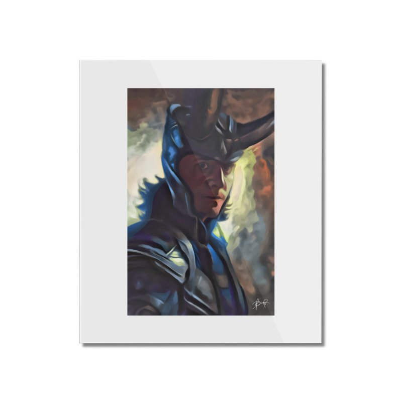 Marvel Loki Home Mounted Acrylic Print by EvoComicsInc's Artist Shop