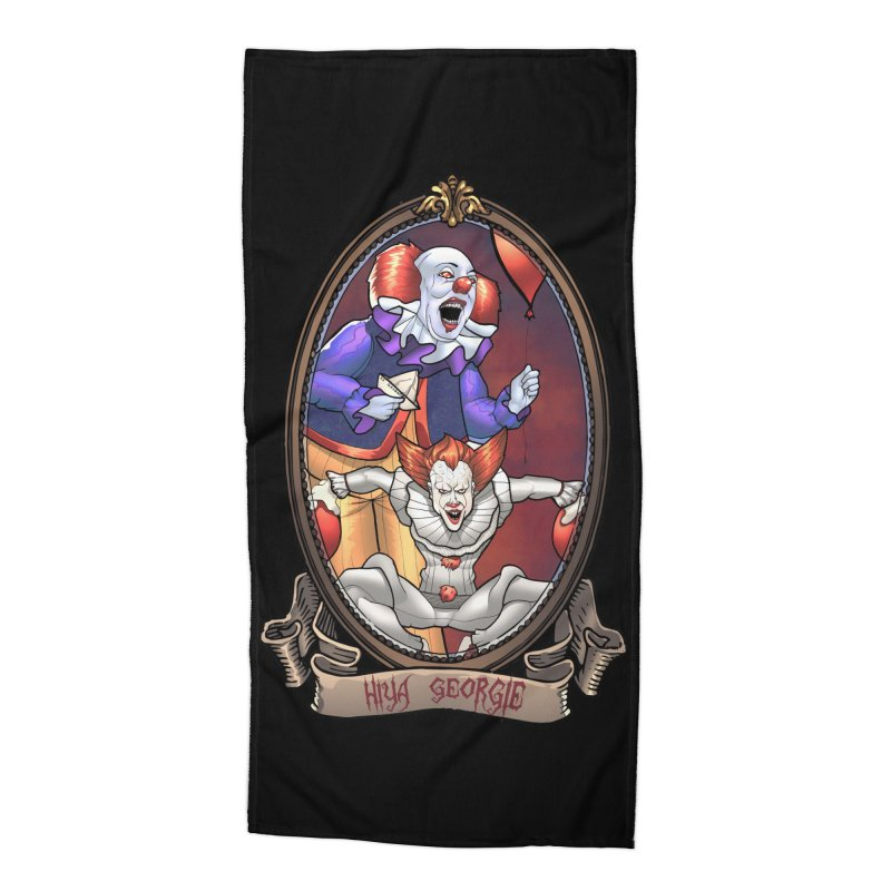 Hiya Georgie Accessories Beach Towel by EvoComicsInc's Artist Shop