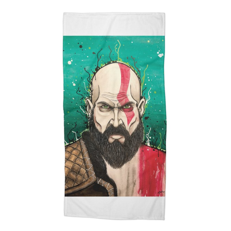 Kratos Accessories Beach Towel by EvoComicsInc's Artist Shop