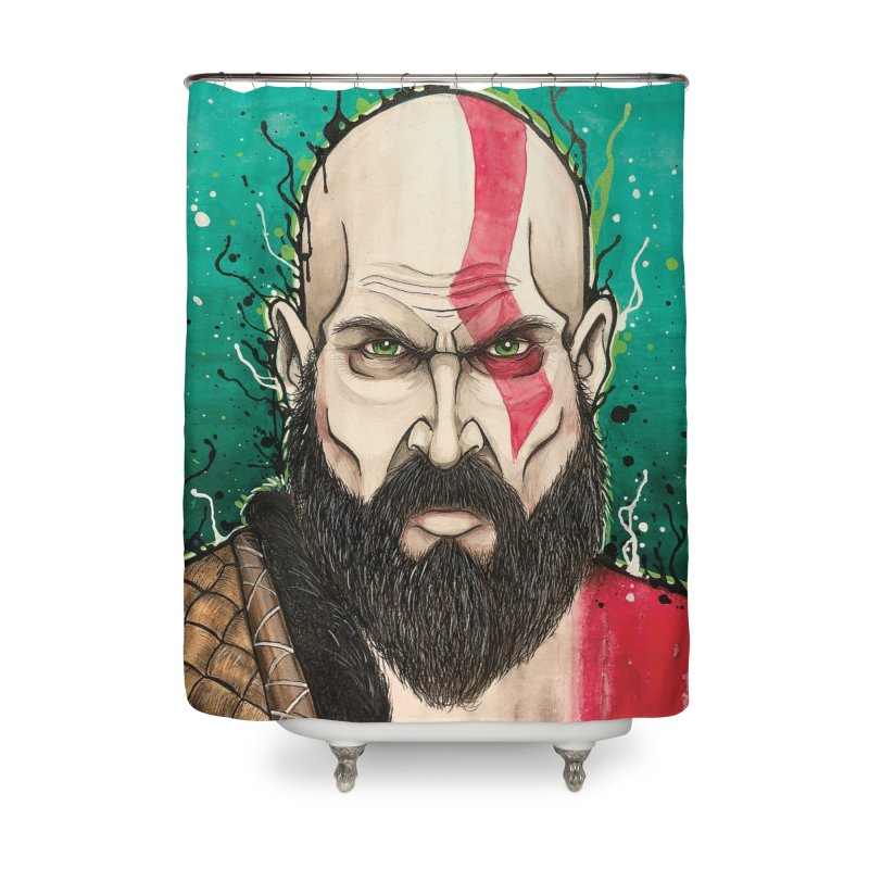 Kratos Home Shower Curtain by EvoComicsInc's Artist Shop